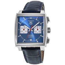 New Tag Heuer Monaco Chronograph Blue Dial Steve Men's Watch CAW2111.FC6183