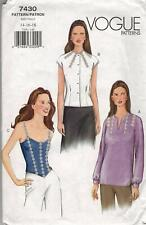 Misses Blouse Easy Sewing Pattern Sizes 14,16, 18 Vogue 7430