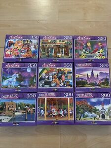 Lot of 5 Puzzlebug Jigsaw Puzzles 300&350 Pieces Your Pick! Brand New CrazArt