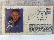 Johnny Unitas Signed Autographed First Day Cover FDC 1992 Envelope Cachet JSA