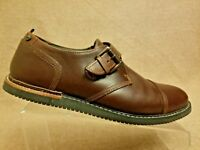 Timberland Earthkeepers Anti Fatigue Men Brown Leather Buckle Loafers Size 8.5