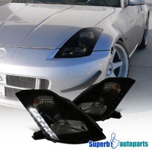"""For Nissan 2003-2005 350Z Z33 Fairlady Smoke """"HID"""" Projector Headlights"""