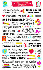 Mrs. Grossman's Giant Stickers - Card Captions Teacher - Thank You - 2 Strips