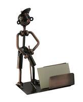 Golfer Putting Metal Business Cardholder Desk Organizer