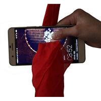 Magic Red Silk Thru Phone by Close-Up Street Magic Trick Show Prop Tool MW
