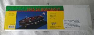 Dumas 1/24 Scale Chris Craft 1930 245' Runabout Classic Mahogany Speedboat Model