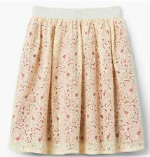 Gymboree girls beautiful flower lace lacy pink skirt nwt size S 5 6