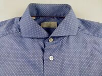 KL289 ETON beautiful spotted design slim fit shirt size 15.5-39, hardly worn!