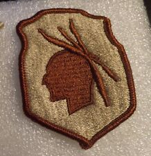 Army Patch 98Th Infantry Division Desert