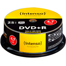 INTENSO 25er DVD+R Rohlinge Spindel Cakebox 4,7GB 16x/120 min kratzfest NEU