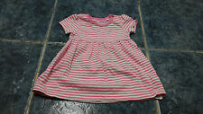 Baby girl striped short sleeve dress size 0-3mths by Blue Zoo