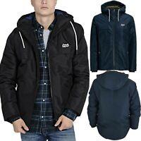 Jack & Jones Mens Hooded Zip Up Jacket Casual Drawstring Water Repellent Coats