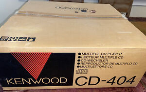 Kenwood CD-404 5 Disc Compact Disc CD Changer Carsouel Player New!