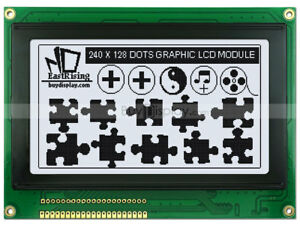 240x128 Graphic LCD Module Display,RA6963,T6963 Controller,Optional Touch Scree