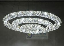 Crystal 3 Rings Chandelier Pendant Lamp Ceiling Lighting Hanging Light Fixture
