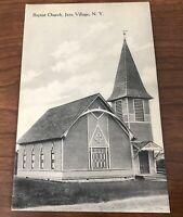 Postcard Java Village NY Baptist Church Vintage Post Card New York