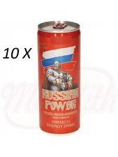 """10X Energy-Drink Koffeinhaltiges Erfrischungsgetränk """"Russian Power"""" Heidelbeer"""