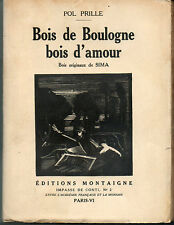 Bois de Boulogne Bois d'Amour par Pol PRILLE.Bois originaux de SIMA.1925.Ex.H.C