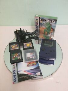 Nintendo Game Boy Color - Grape / Purple  No. CGB-001 With Charger & 5 Games