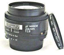 Nikon AF Nikkor 24mm f/2.8 Wide Angle Lens Excellent No. 239881