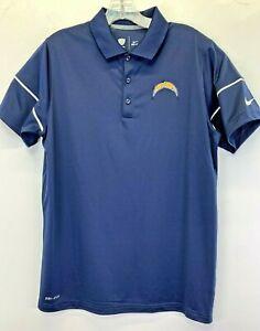 LA Chargers NFL-training Nike Dri Fit Mens Medium Blue Polo Shirt NW/OTs(M63)