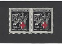 Third Reich / MNH Postage Stamp Pair / Red Cross / Eagle / 1943 BaM
