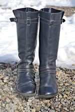 Women's size 10 BOC brand leather riding equestrian style knee length boots blk