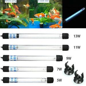 Fish Tank UV Light Sterilizer 5W-13W Clean Lamp Submersible Aquarium Pond New