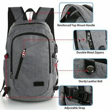 Laptop Backpack with USB Charging Port Mancro Business Water Resistant Polyester