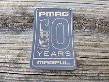 (2) MAGPUL 10 Years Pmag Sticker Decal Rifle Gun Pistol Shooting Airsoft Hunting
