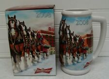 75th Anniversary Budweiser Clydesdales 2008 Holiday Stein CS695 With Box