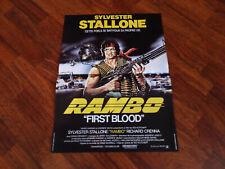 AFFICHE  STALLONE / RAMBO FIRST BLOOD / 40X60