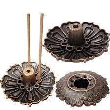 9 Holes Lotus Incense Burner Holder Flower Statue Censer Plate Fit Sticks & Cone