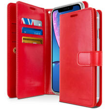 iPhone 12 Pro, XS MAX,XR Double Sided Wallet Case Premium PU Leather Folio Style