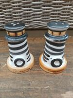 Vintage Salt & Pepper Pot Ceramic Novelty Set. Lighthouse