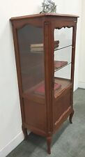 French Vintage Display Cabinet Cherrywood Louis Style Bookcase Cabinet  - L114
