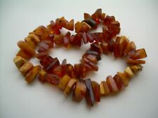 Vintage Heavy Natural Butterscotch & Translucent Chunky Necklace 98.78 grams.
