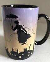 Disney Parks Mary Poppins Silhouette Mug 16oz Coffee Cup 3D Embossed EUC Rare