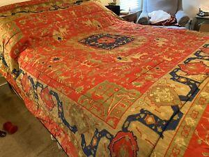 Rare Ralph Lauren Bed Dignitary ESTATE Conservatory Comforter Queen RUG EUC