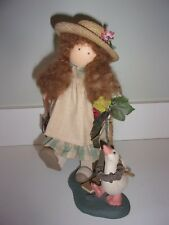 Lizzie High Walks Goose Lily to the Pond Wooden Doll