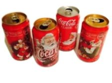 Coca-cola Cans sandaclaus Christmas Coke Cans 90's Lot (4)