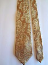 "SEAN JOHN - SHADES OF GOLD PAISLEY - 100% SILK NECKTIE - 58""LONG 3 5/8""WIDE"