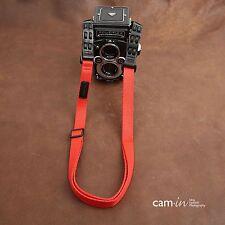 CAM1838 Cotton shoulder Neck Strap Adjustable Rollei Rolleiflex Camera Red