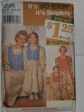 b902f3470 Vestido a Juego Niños para Mujer 0656 Simplicity Patrón de Costura XS-XL & 3