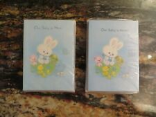 48 Vintage 1980's Rousana Birth Baby Announcement Card Envelope Bunny Duckling