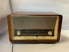 Vintage Antique Delmonico PB-741 Multiband Tube Radio 50s-60s Powers on w/ Noise