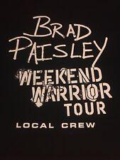 Brad Paisley Weekend Warrior Tour Local Crew T-shirt Size XL