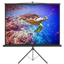"""Large Freestanding 86"""" Projector Screen with Tripod Stand Portable Stable White"""