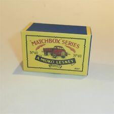 Matchbox Lesney 40 a Bedford 7 Ton Tipper empty Repro B style Box