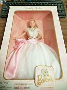 MATTEL BARBIE DOLL BIRTHDAY WISHES FIRST IN SERIES COLLECTOR EDITION 1998